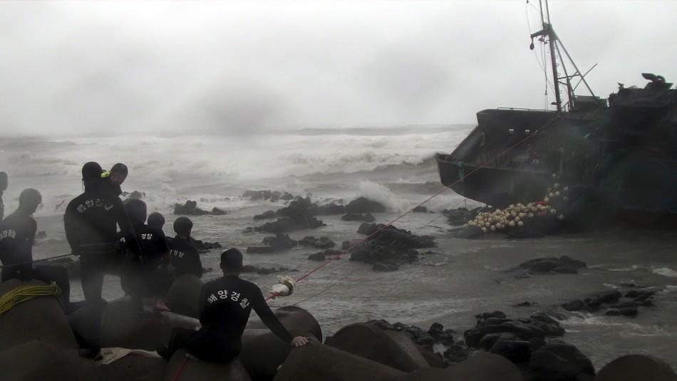 Korea typhoon