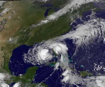 Tropical Storm Isaac is seen in the Gulf of Mexico in this NOAA handout satellite (Reuters)