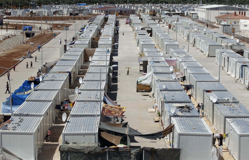 """General view of the refugee camp named """"Container City"""" on the Turkish-Syrian border in Oncupinar in Kilis province"""
