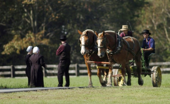 Amish way of life is the idea of community and living separate to the rest of the world (Reuters)