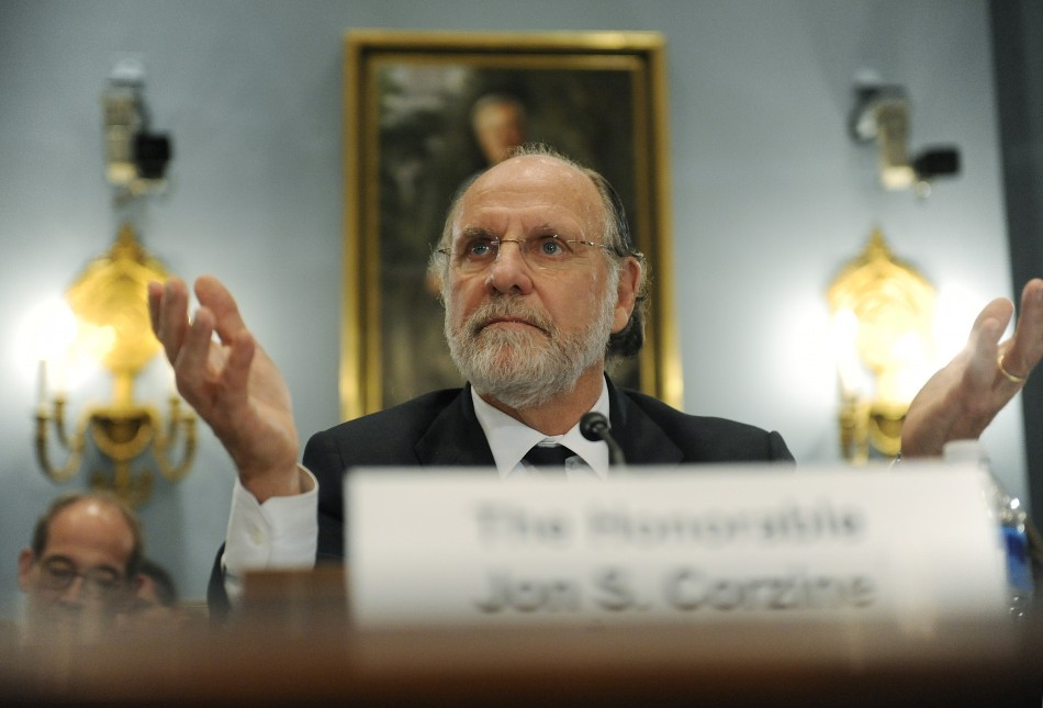 Corzine testifies about the MF Global bankruptcy during a hearing before the U.S. House Agriculture Committee on Capitol Hill in Washington