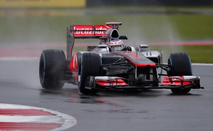 Jenson Button in his McLaren MP4-27