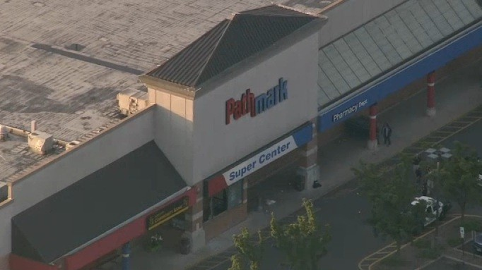 Police responded to shots fired inside the Pathmark supermarket in New Jersey (NBC New York)