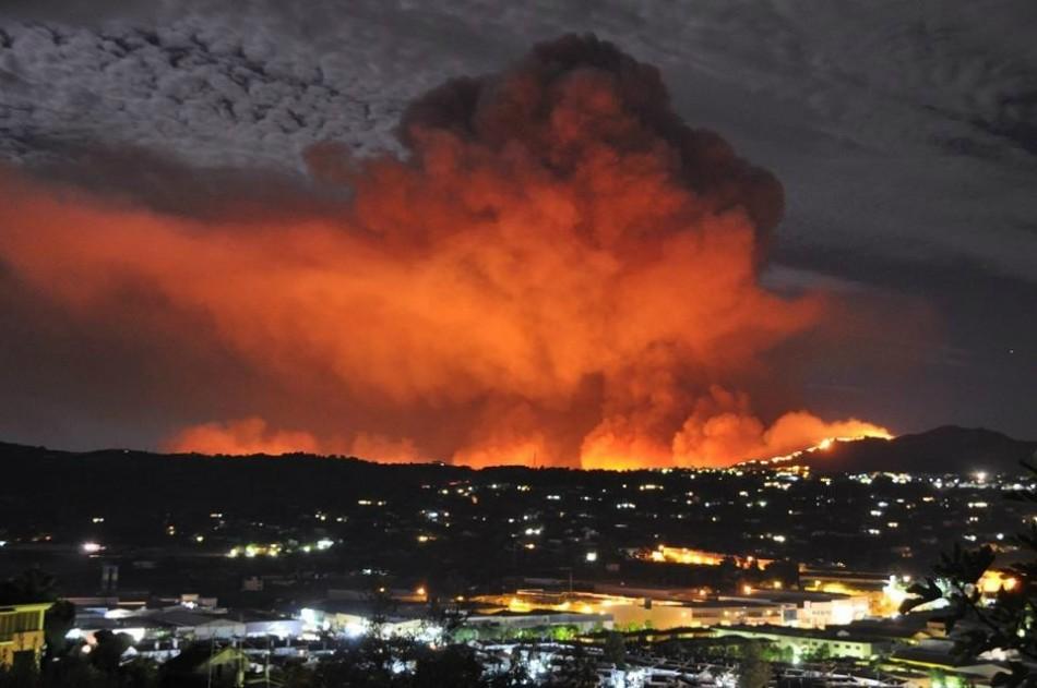 spain wildfire  costa del sol is burning  video plus