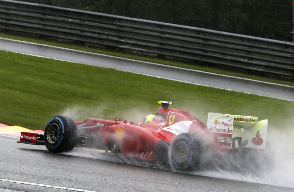 Ferrari's Felipe Massa at Spa-Francorchamps