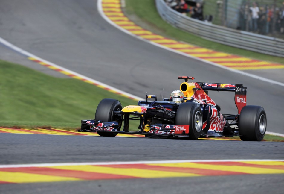 Sebastian Vettel [Red Bull Racing] at Spa-Francorchamps