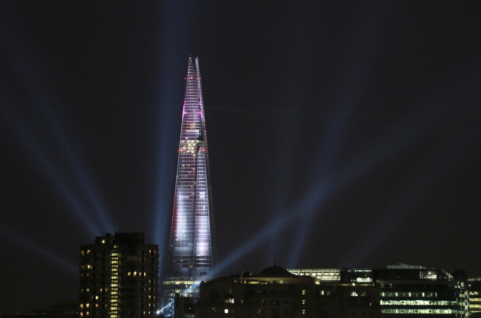 The Shard is the tallest building in Europe and the 59th tallest in the world (Reuters)