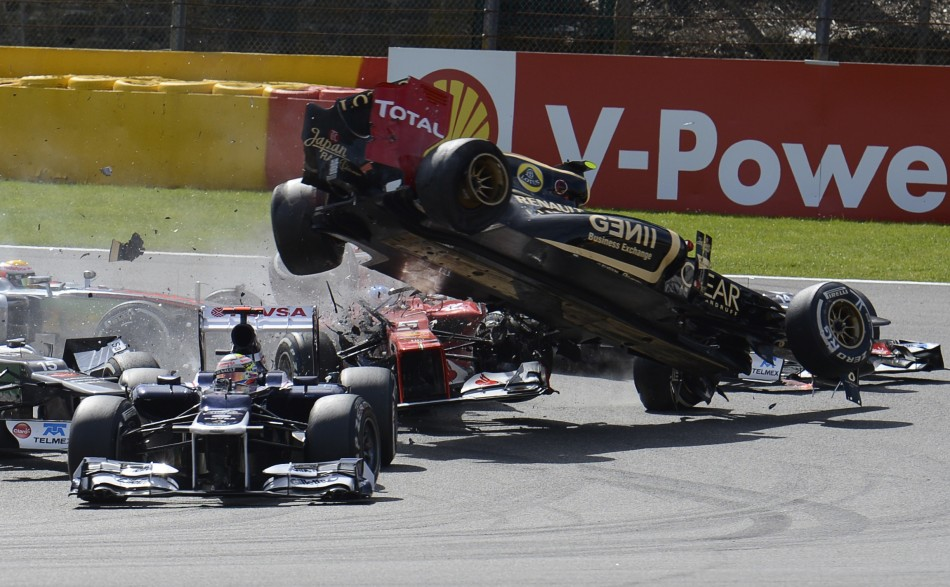 Lewis Hamilton Involved in a Crash at the Belgian Grand Prix