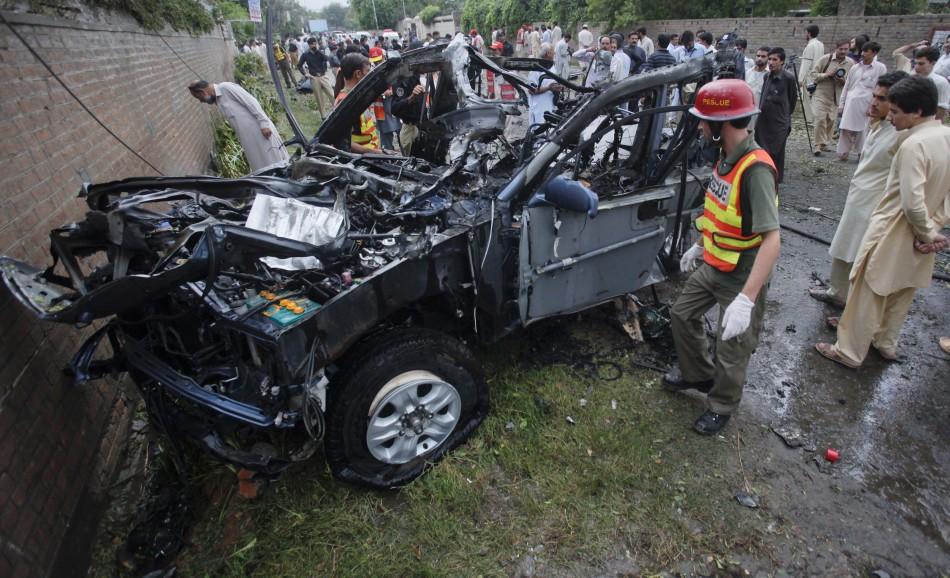 Aftermath of the Peshawar blast