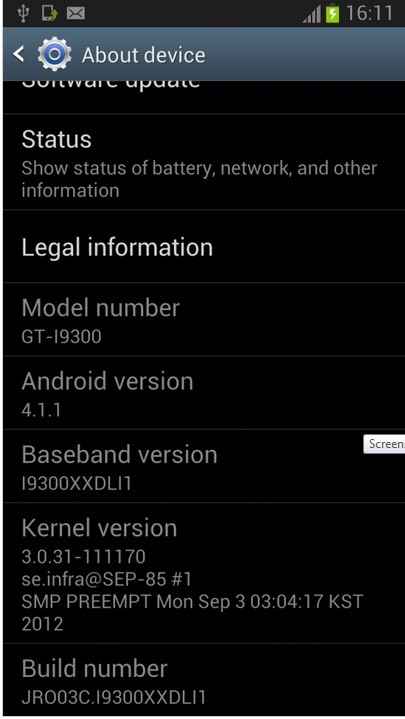 Android 4.1.1 XXDLI1