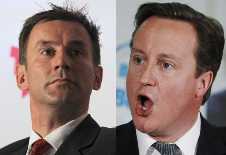 Jeremy Hunt and David Cameron