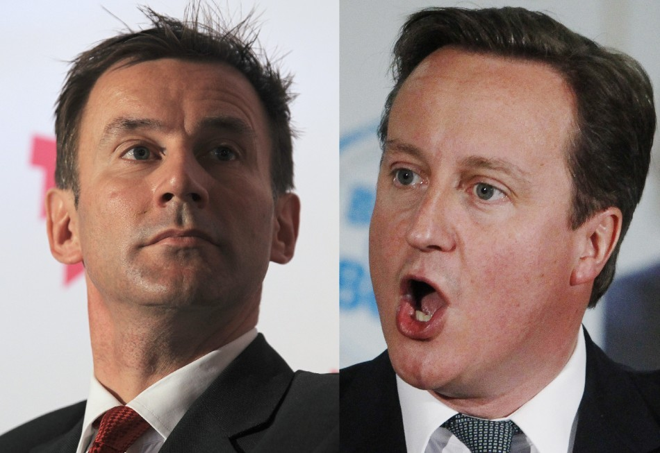 Jeremy Hunt and David Cameron