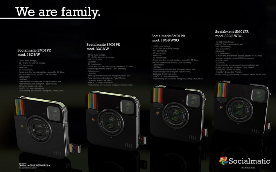 Instagram inspired socialmatic camera update 16gb 32gb sd card android os sm01pr