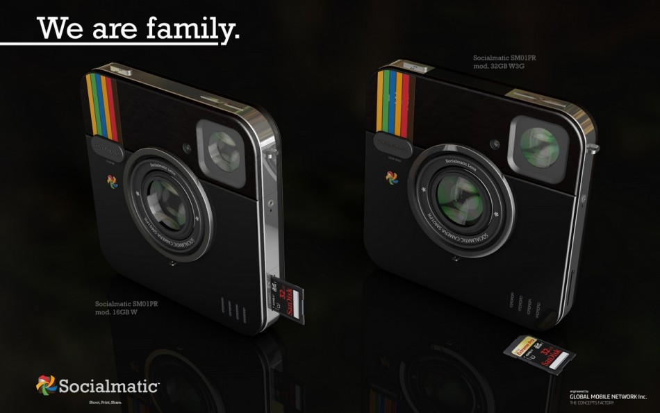 Instagram inspired socialmatic camera update 16gb 32gb sd card android os