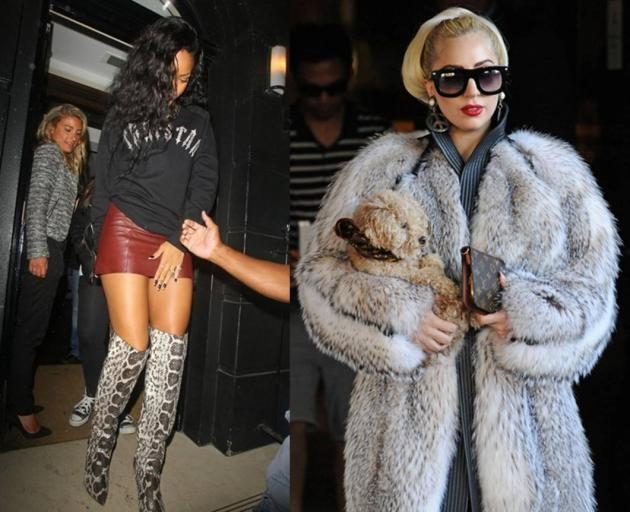 Rihanna and lady Gaga