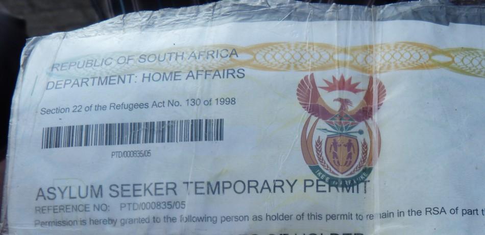 South Africa temporary refugee status