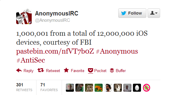 AnonymousIRC Hack FBI Website