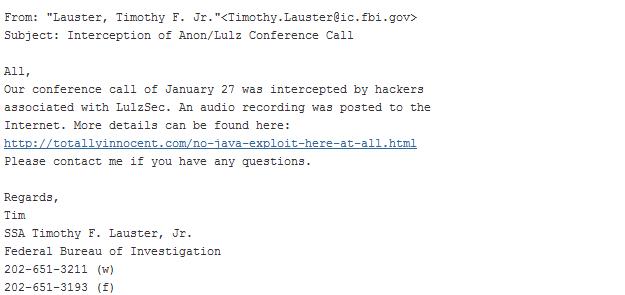 FBI Email AntiSec
