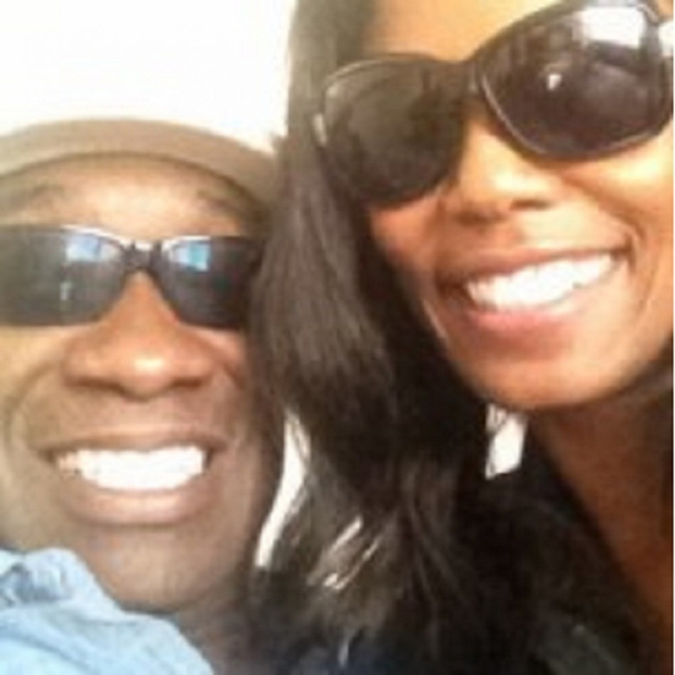 Michael Clarke Duncan and Omarosa Manigault