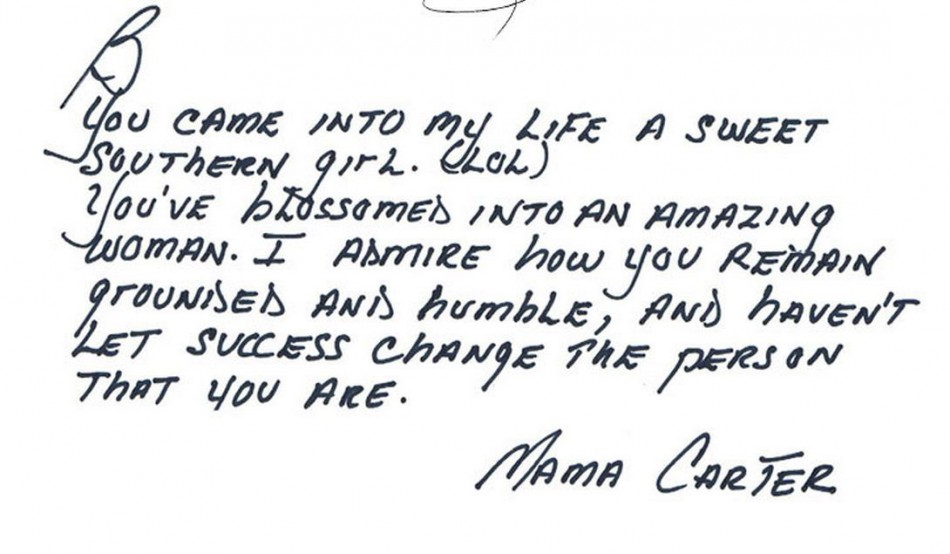 Gloria Carter, mother of her husband, Jay-Z posted this message.