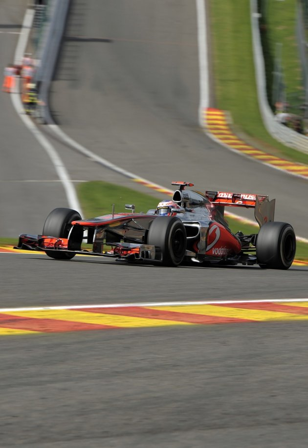 Jenson Button at Spa-Francorchamps