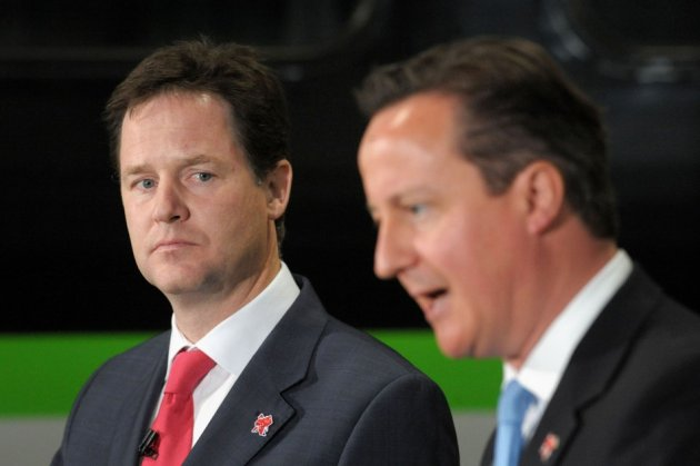 Britain's Deputy Prime Minister Nick Clegg and Prime Minister David Cameron (Photo: Reuters)