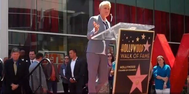 Ellen DeGeneres gets a star on the Walk of Fame