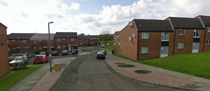 The homes were evacuated in the Cheriton Gardens area of Horwich, Bolton (StreetView)