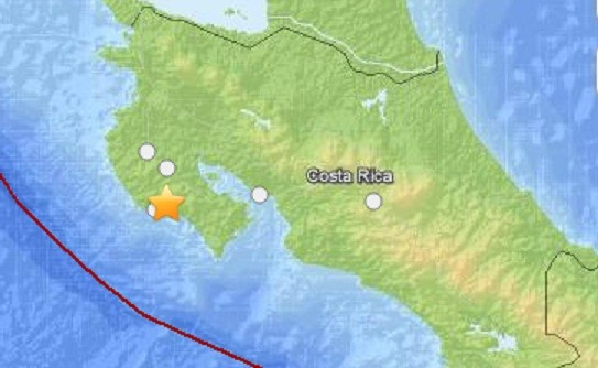 The 7.6 earthquake struck nearly 40 miles from the Costa Rica city of Liberia (USGS)