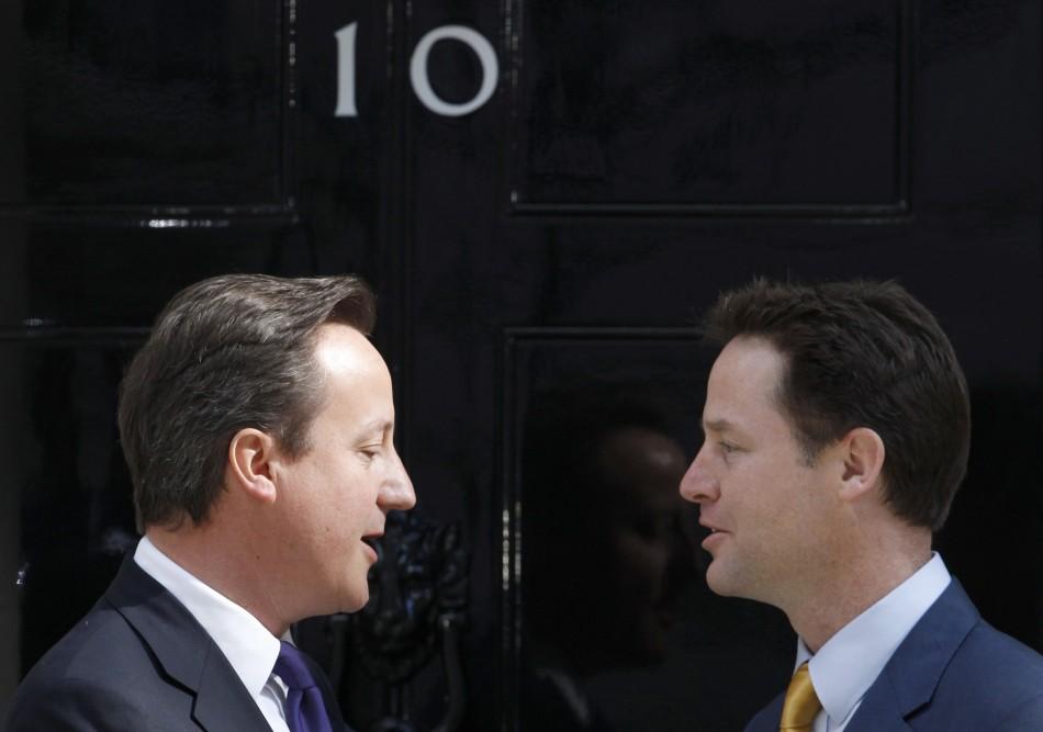 Nick Clegg David Cameron