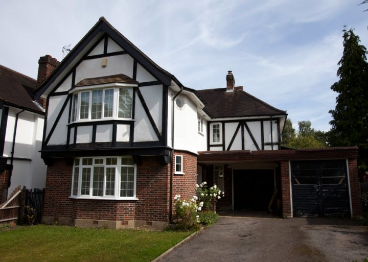 The home of Saad al-Hilli is seen in Claygate, south of London
