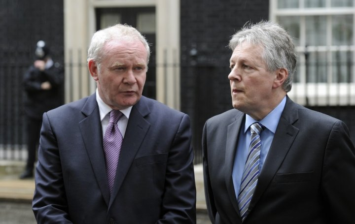 Northern Ireland's Deputy First Minister Martin McGuiness and First Minister Peter Robinson (Reuters)