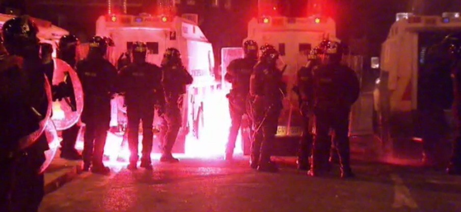 Police came under attack during three nights of rioting in Belfast (UTV)