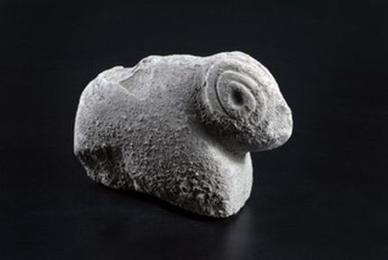 A 9,500 years old ram statue discovered in Israel may point to belief in lucky charms. (Photo: Yael Yolovitch/Israel Antiquities Authority)