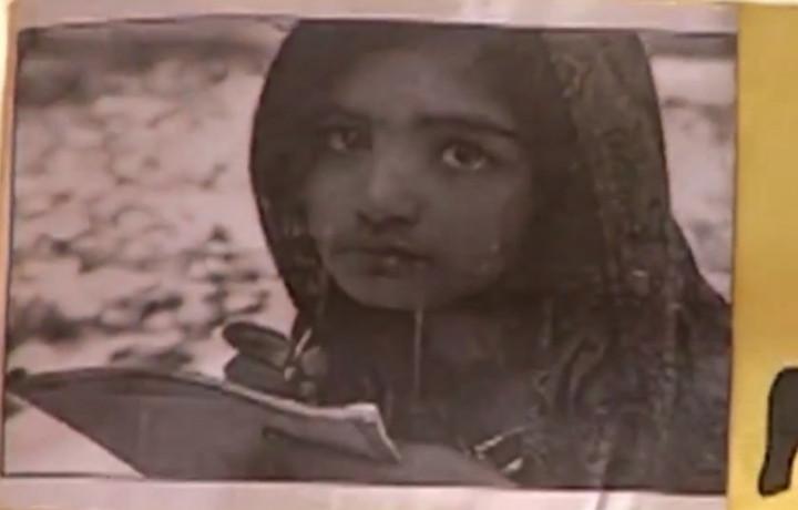 Image on a poster at protest against blasphemy arrest of Rimsha