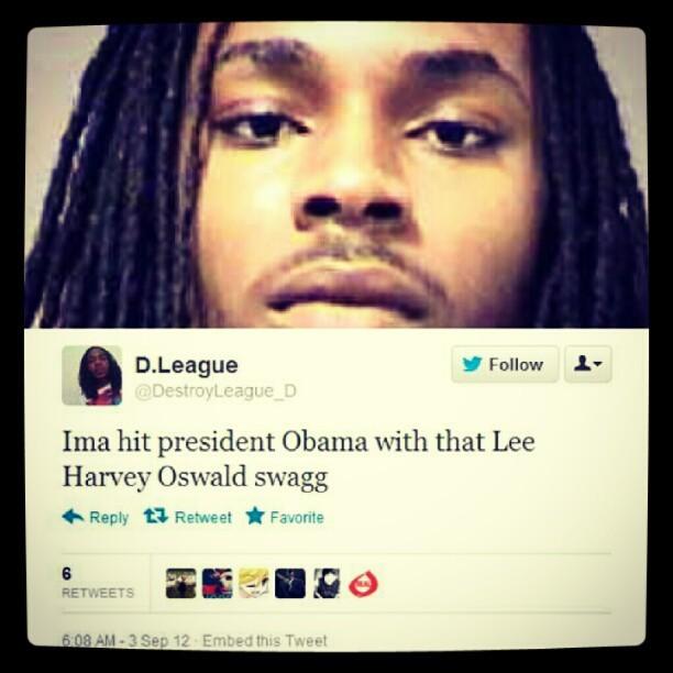Obama threats twitter
