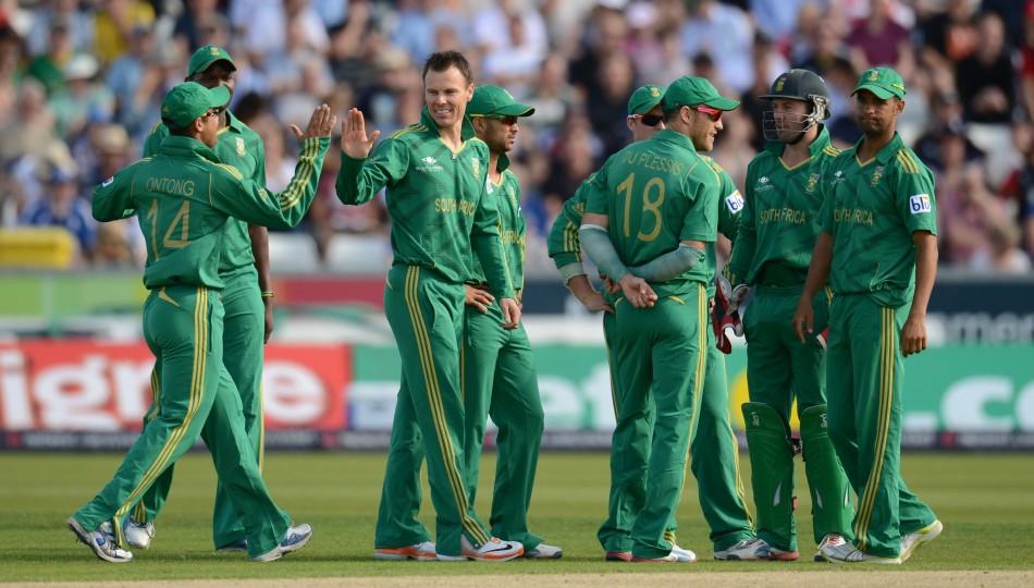 South Africa's Johan Botha Congratuled