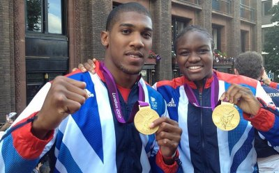 Anthony Joshua and Nicola Adams