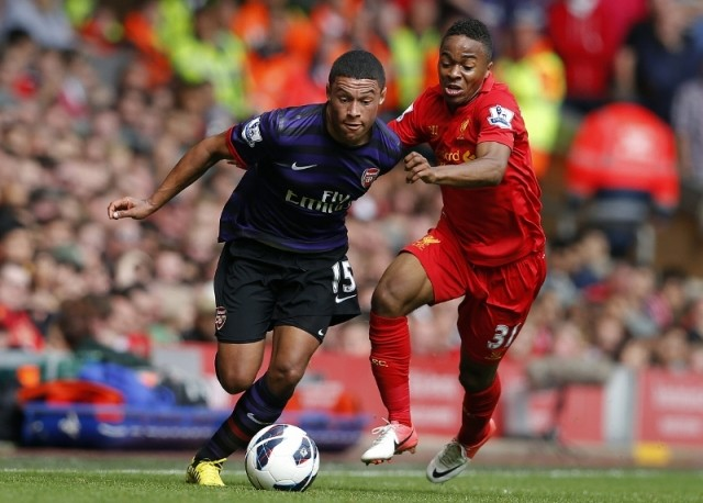 Raheem Sterling [right]
