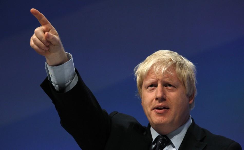 Looking to the skies: Boris Johnson