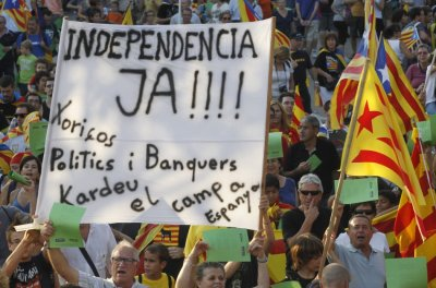 Calling for Catalonia independence