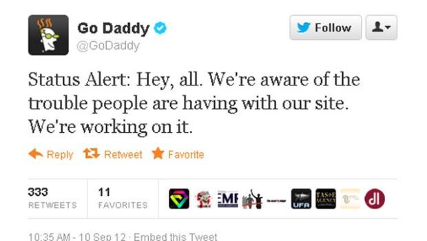 GoDaddy tweet