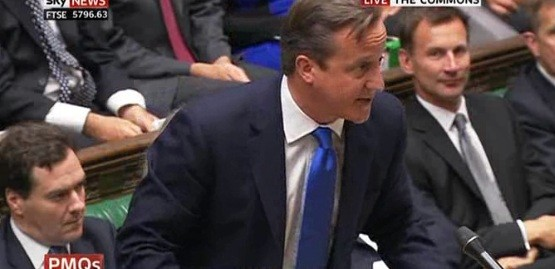 Cameron in the House of Commons