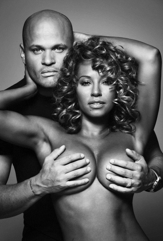 Mel B goes topless