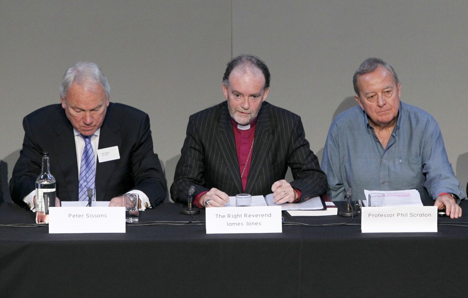 Hillsborough Independent Panel members attend a news conference in Liverpool's Anglican Cathedral, in Liverpool (Reuters)