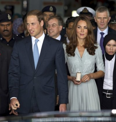 William and Kate Arrive in Malaysia