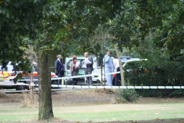 The body parts were found along the Dr Johnson Avenue Area of Tooting Bec Common (Twitter/@ianskynews)