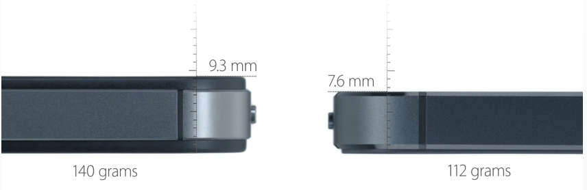 Apple iPhone 5 versus iPhone 4 Design
