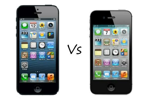 iphone 5 vs iphone 4s. Black Bedroom Furniture Sets. Home Design Ideas