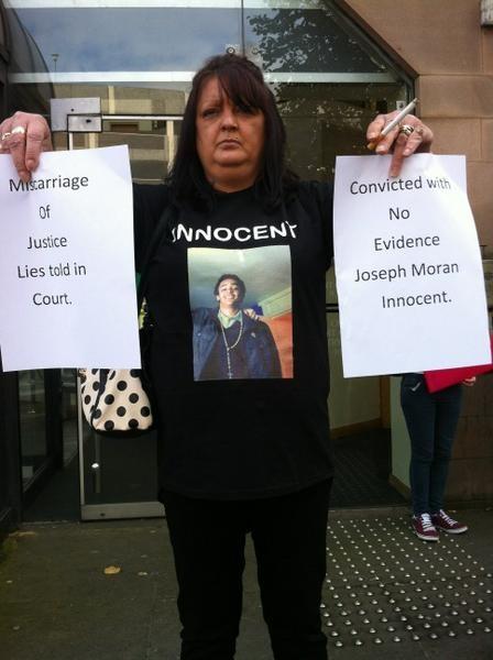 Sarah Moran in protest